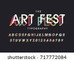 vector of modern abstract font... | Shutterstock .eps vector #717772084