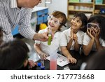 Small photo of Kindergarten Students Learning in Science Experiment Laboratory Class