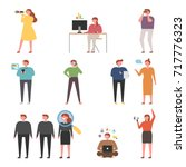 web surfing search people... | Shutterstock .eps vector #717776323