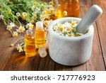 composition with essential oil... | Shutterstock . vector #717776923