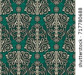 vintage beautiful pattern ... | Shutterstock .eps vector #717780688