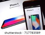 september 2017   iphone x ... | Shutterstock . vector #717783589