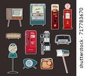 vector stuff from the fifties | Shutterstock .eps vector #717783670