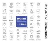 line icons set. business pack.... | Shutterstock .eps vector #717784510