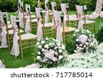 wedding setup | Shutterstock . vector #717785014
