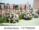 wedding setup | Shutterstock . vector #717785020