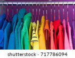 colored clothing of all colors... | Shutterstock . vector #717786094