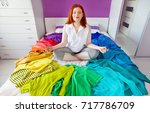 a circle of clothes of all... | Shutterstock . vector #717786709