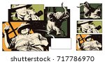 stock illustration. people in... | Shutterstock .eps vector #717786970