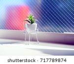 ornamental pot put inside of... | Shutterstock . vector #717789874