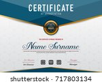 certificate template luxury and ... | Shutterstock .eps vector #717803134