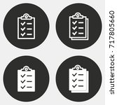 clipboard vector icon.... | Shutterstock .eps vector #717805660
