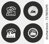 factory vector icon.... | Shutterstock .eps vector #717805690