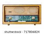 colour image of an old  retro... | Shutterstock . vector #717806824