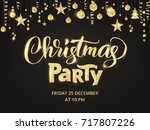 christmas party poster template....