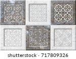 abstract home decorative art... | Shutterstock . vector #717809326