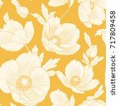 hellebore flowers bloom blossom ... | Shutterstock .eps vector #717809458