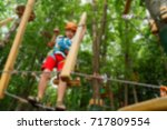 children's active recreation... | Shutterstock . vector #717809554