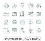 logistics and cargo vector... | Shutterstock .eps vector #717810340