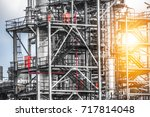 close up industrial zone. plant ... | Shutterstock . vector #717814048