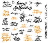 set of halloween lettering for... | Shutterstock .eps vector #717817096