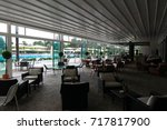 the interior of the pool bar is ... | Shutterstock . vector #717817900