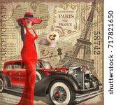vintage poster paris torn