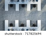 top view of white table office... | Shutterstock . vector #717825694