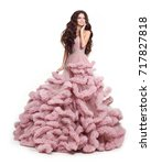 beautiful lady in luxury lush...   Shutterstock . vector #717827818