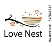 love nest logo. | Shutterstock .eps vector #717829519