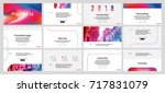 red and blue elements on a... | Shutterstock .eps vector #717831079