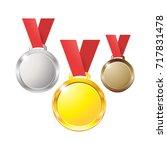 medals gold silver bronze... | Shutterstock . vector #717831478