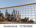beach volleyball court  team... | Shutterstock . vector #717835888