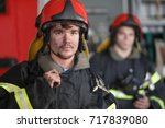 Portrait Of Two Heroic Fireman...
