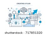 creating a plan. time... | Shutterstock . vector #717851320