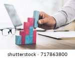 businessman working at office... | Shutterstock . vector #717863800