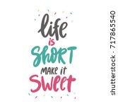 sweet cupcake print. lettering. ... | Shutterstock .eps vector #717865540