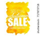 special autumn sale. vector... | Shutterstock .eps vector #717873718
