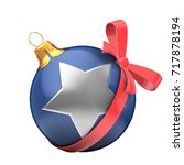 3d illustration of christmas... | Shutterstock . vector #717878194