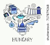 hungary symbols in the form of... | Shutterstock .eps vector #717879268