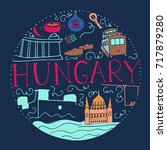 culture of hungary. hand drawn... | Shutterstock .eps vector #717879280