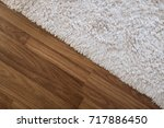 close up white carpet on... | Shutterstock . vector #717886450