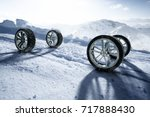 Winter Tires  3d Rendering