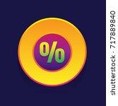 sale. colored button percent on ...
