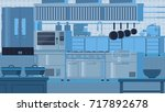 kitchen flat illustration | Shutterstock .eps vector #717892678