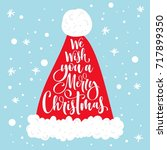 we wish you a merry christmas... | Shutterstock .eps vector #717899350
