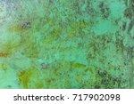 rusty green metal texture.... | Shutterstock . vector #717902098