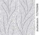 hand drawn pattern with... | Shutterstock .eps vector #717902848