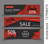 black friday sale posters... | Shutterstock .eps vector #717908374