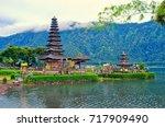 ulun danu bratan temple on... | Shutterstock . vector #717909490